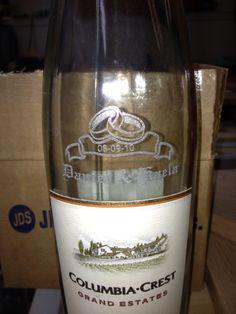 Laser Engraved wine bottle Engraved Wine Bottles, Laser Engraving