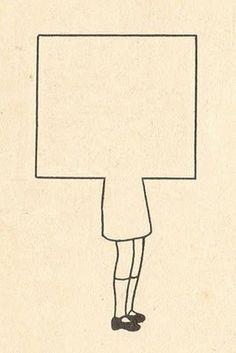 Niña cuadrado #square girl