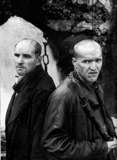 "Alexander Kaidanovsky and Anatoly Solonitsyn in ""Stalker"" Andrei Tarkovsky (1979)."