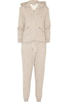 CLU Hooded cotton French terry jumpsuit | NET-A-PORTER. I would go for fleece-lined in heather navy. Perfect for snuggling up.