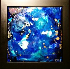 Beautiful Depths $45 This beautifully painted 6x6 inch tile is mounted in a black frame, resulting in a final size of 8x8 inches.  The painting is sealed with a light coat of varnish for protection and is ready to hang. Sargent Art, Tile, Canvas, Coat, Frame, Painting, Beautiful, Black, Tela