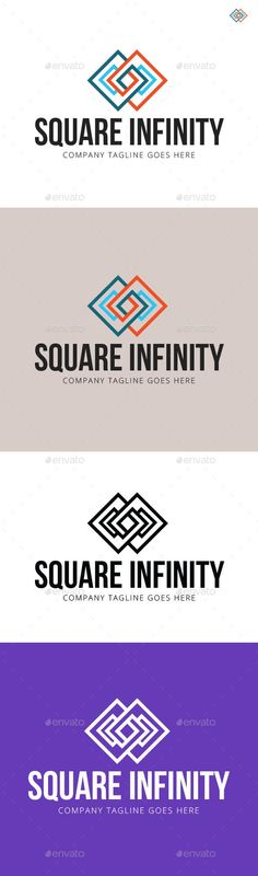 Square Infinity Logo Template — Vector EPS #business #investment