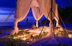 A romantic getaway wouldn't be complete without lights. #Beach