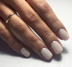 Pin by Lisa Firle on Nageldesign - Nail Art - Nagellack - Nail Polish - Nailart - Nails in 2020 Nude Nails, White Nails, Nails Polish, Acrylic Nails, Pink Nail, Coffin Nails, Neutral Gel Nails, White Short Nails, White Polish