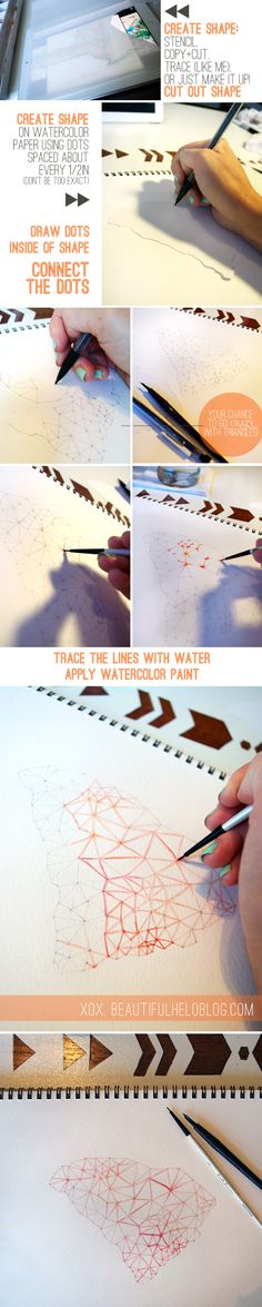 This DIY project is crazy easy and is actually so much fun I have created about 10 of these line paintings in the last two days!  Over kill?  Eh....  maybe... but I can't help myself! You don't eve...