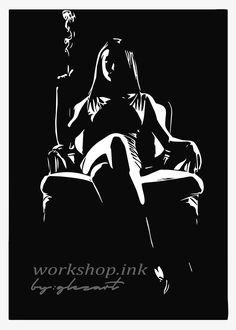 from allah hu akbar karo or utaar do sab kuch or bolo jai shree raam satman shree wahey guru with all hail White Art, Black Art, Art Sketches, Art Drawings, Black Paper Drawing, Art Et Illustration, Silhouette Art, Stencil Art, Black And White Portraits