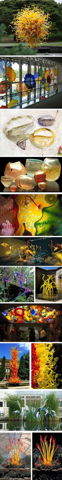 Dale Chihuly- One of my favorite glass artists! Art Of Glass, Blown Glass Art, Glass Artwork, Dale Chihuly, Murano, Glass Design, Amazing Art, Awesome, Installation Art