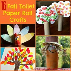 16 Fall Toilet Paper Roll Crafts for kids