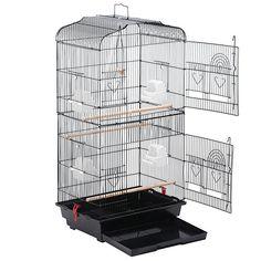 Yaheetech Metal Bird Cage Parrot Cockatiel Parakeet Finch Canary Bird Cage Pet Play w/Perch Pet Bird Cage, Bird Cages, Cockatiel, Budgies, Parrots, Canary Cage, Monk Parakeet, Bird Stand, Metal Birds