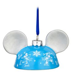 ''On Ice'' Mickey Mouse Ear Hat Ornament