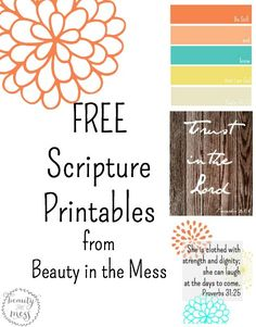 Scripture Printables {Free} from Beauty in the Mess