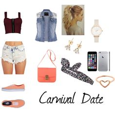 A super cute and chic outfit for a date at the carnival