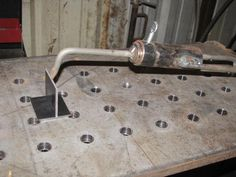 Helping hand. very handy    Tig Table - WeldingWeb™ - Welding forum for pros and enthusiasts