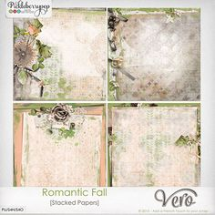 Romantic Fall [Stacked Papers] By Vero