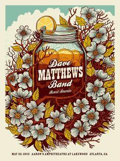 Dave Matthews Band poster by Methane Studios.