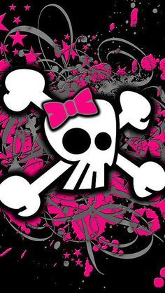 Skull Wallpaper Iphone Cellphone Mobile Pink And Black Sugar
