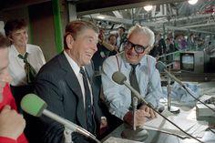 Harry Caray with President Reagan.