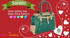 Sorteio bolsa Alice Palucci Semax - Charme & Glamour | Gih Oliveira Glamour, Giveaway, Alice, Backpacks, Prize Draw, Olive Tree, Bag, Joy, Backpack