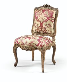 A CARVED BEECHWOOD CHAIR ATTRIBUTED TO THE CRESSON, LOUIS XV
