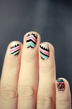 #Thesundaynailbattle // Inspiration Poncho | PSHIIIT