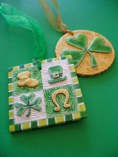 our Swirly St. Patrick's ornaments  www.swirlydesigns.com