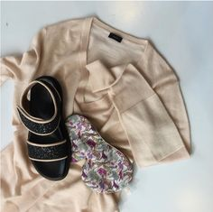 """Limited Edition Eye Mask added by @utzonshop """"Soft items. Joseph cashmere v-neck, Holistic Silk mask in new print & Marni comfy sandals."""" www.utzonshop.dk"""