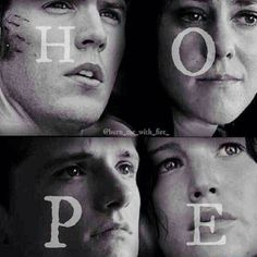 Finnick Odair, Johanna Mason, Peeta Mellark, and Katniss Everdeen