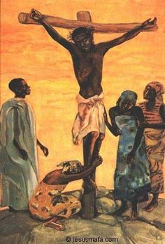 Twelfth Station, Crucifixion of Jesus, African Catholic Art, Religious Art, African American Art, African Art, African Style, Blacks In The Bible, Miséricorde Divine, Arte Black, Black Art Pictures