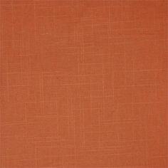 Melon Linen Swatch orange/tangerine color fabric for custom window treatments: draperies, roman shades, top treatment | BestWindowTreatments.com