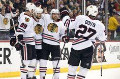 Blackhawks vs. Wild 2015 final score: Chicago advances with 4-3 win, series ... Blackhawks Score  #BlackhawksScore