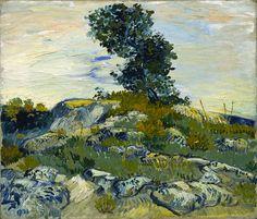 Painting: Vincent van Gogh, The Rocks, 1888