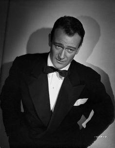 John Wayne in a bowtie Premium Art Print