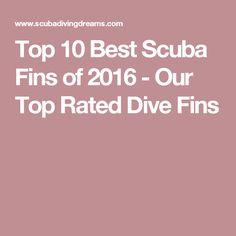 Top 10 Best Scuba Fins of 2016 - Our Top Rated Dive Fins