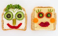 Salads For Kids, Fun Snacks For Kids, Funny Breakfast, Breakfast For Kids, Cooking Classes For Kids, Cooking With Kids, Cute Food, Good Food, Eden Foods