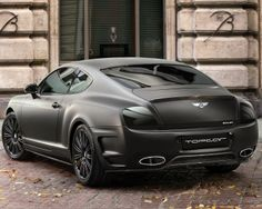 Stealth looking matte black Bentley Continental GT #CarFlash
