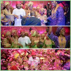 Nigerian wedding styles. Nigerian Yoruba bride. Nigerian Traditional Yoruba wedding. Aso ebi styles. Aso Ebi Styles, Ankara Styles, Yoruba Wedding, Nigerian Fashion, Ankara Fashion, Wedding Styles, Bride, Traditional, Painting