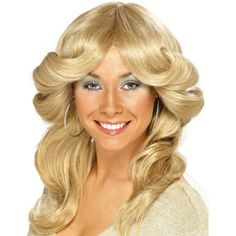 Blonde Flick Wig Disco ABBA Fancy Dress Charlies Angels Costume Accessory for sale online Abba Fancy Dress, Angel Fancy Dress Costume, Disco Fancy Dress, Fancy Dress Wigs, Star Fancy Dress, 1970s Hairstyles, Vintage Hairstyles, Wig Hairstyles, Hairstyles Videos