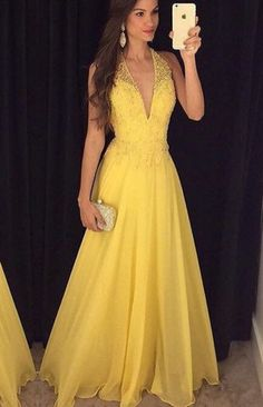 Backless Prom Gown,Open Back Evening Dress,Backless Prom Dress,Evening Gowns,Yellow Formal Dress Yellow Formal Dress, Dress Formal, Yellow Prom Dresses, Yellow Gown, Formal Gowns, Summer Dresses, Backless Prom Dresses, Prom Gowns, Dress Prom