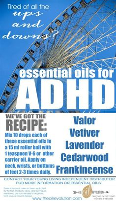 Another young living recipe for dealing with adhd. I've noticed the frankincense help to really balance my son. Just started adding this one.