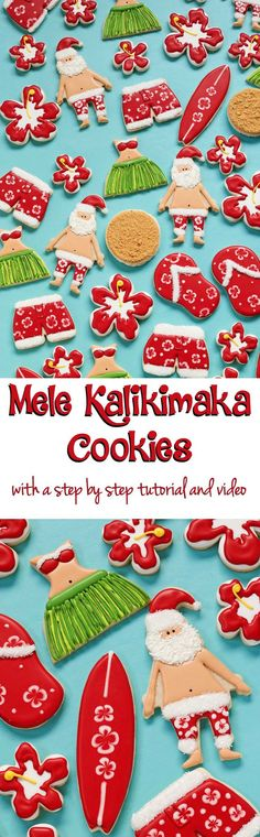 Mele Kalikimaka Cookies are Easy to Make when You Follow this Tutorial via http://www.thebearfootbaker.com