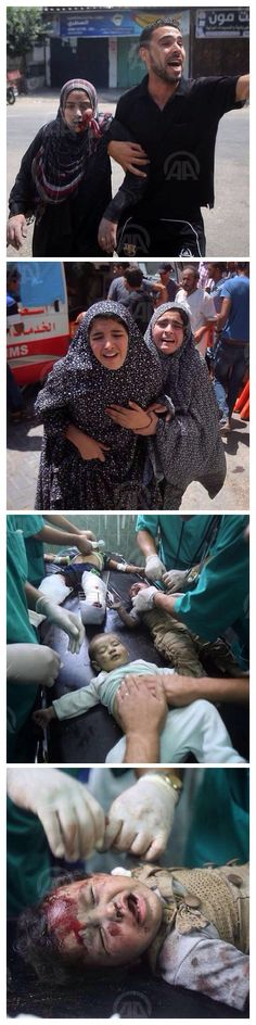 The Abu Yousef al-Najjar Hospital following an Israeli strike on Rafah, Gaza City, on August 01, 2014.