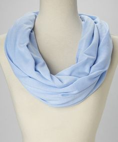 Loving this Calm Blue Infinity Scarf on #zulily! #zulilyfinds