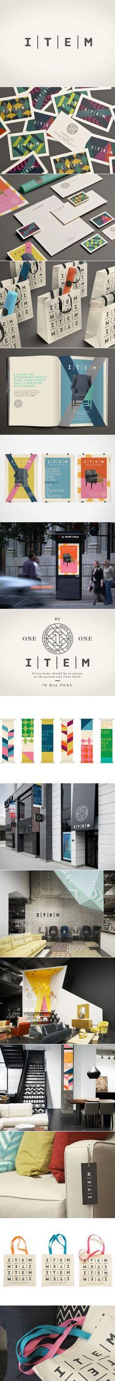 Item | Nouveau magasin / New store | Branding | lg2boutique - branding / identity - love the geometric design