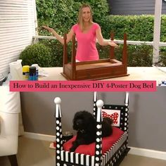 How to build an inexpensive DIY 4-poster dog bed.