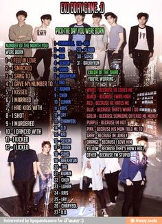 Kpop exo b-day game..... I murdered luhan because that's what I do... Lol I'm sorry -comment what you got-