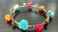 Colorful Frida Bangle by PeaceLoveSwagger on Etsy, $22.50