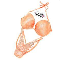 Coral/Peach Competition Bikini by Magic Bikinis, Fitness Bikini, Bikini Model, Crystals Competition Bikinis, Coral Orange, Bikini Workout, Bikini Models, Peach, Magic, Crystals, Fitness, Swimwear