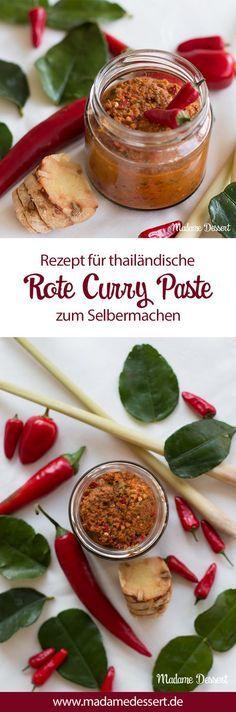 Das Rezept für Thailändische Rote Curry Paste, dass ich während meiner 6-monatigen Reise durch Südostadien gelernt habe. Verfeinert jedes Curry und schmeckt herrlich fruchtig scharf.