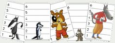 Could be a flip book with a variety of heads, tops, bottoms, and feet/shoes. tresquatreicinc: BATALLA DE LLOPS: MUST HAVE! Wolf, Montessori, Core French, Little Pigs, Stories For Kids, Activities For Kids, Cute Pictures, Kindergarten, Animation