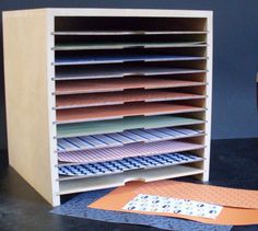 8.5x11 and 12x12 paper storage units created by Cameron Toyz; these come in a multitude of sizes